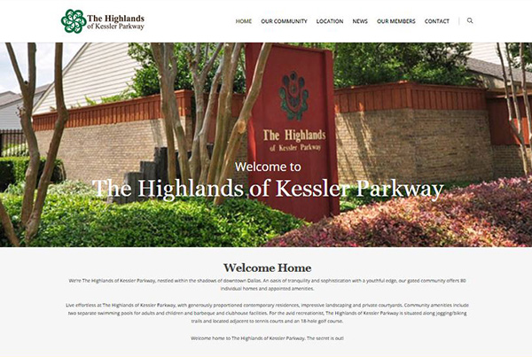 The Highlands at Kessler Parkway website